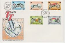 Unaddressed Isle of Man FDC 1st Day Cover 1987 TT Tourist Trophy Race 10 % off 5