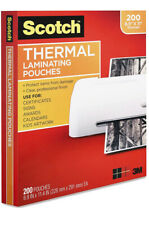 Scotch Thermal Laminating Pouches 89 X 114 200 Pack Letter Size Clear