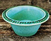 Rare VTG Bennington Potters Rimmed Soup Pasta Bowl #1605 Turquoise Aqua Blue EUC