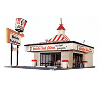 WALTHERS LIFE LIKE HO SCALE 1/87 KENTUCKY FRIED CHICKEN KFC KIT | BN | 433-1394