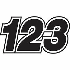 3 X Custom Race números Vinilo Motocross pegatinas Dirt Bike ensayos calcomanías