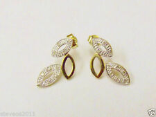 Butterfly Excellent Cut Yellow Gold Fine Diamond Earrings