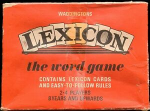 Vintage Waddingtons Lexicon Card Game 1968