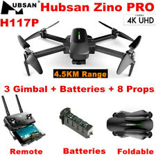 Hubsan Zino PRO 4.5KM Drone 4K HD Camera FPV Quadcopter W/3Axis Gimbal+2Battery