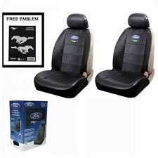 New FORD Mustang Synthetic Leather Car Truck 2 Front Seat Covers Free Stickers