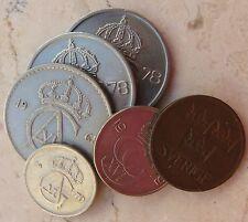 n. 6 Monete Sverige / Svezia: 5 - 10 - 25 -50 ore - n. 1132