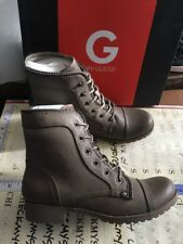 NEW G by GUESS Women's Belva Army style Lace-up Zipper Detail Boots Size 7.5