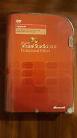 Microsoft Visual Studio Professional 2008 SQL 2005 Dev Full Ver w' Upgrade BONUS