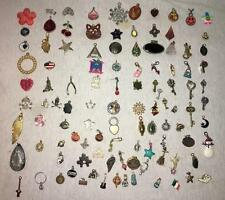 108 CHARMS + PENDANTS Lot Jewelry Custom Design Supplies Glass Metal Stones