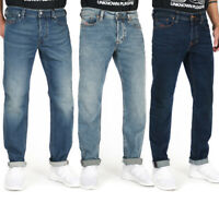 NEU Diesel Larkee Beex Herren Regular Tapered Fit Stretch Jeans Hose