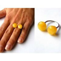 Wunderschöner Ring, Bernsteinring, Amber, Silber 925, NEU - UNIKAT -