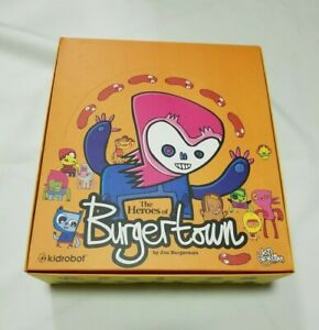 🍔 KidRobot Heroes of Burgertown Full Case 20 Blind Boxes Toy Figures 2008 RARE!