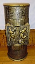 Vintage Italian Neoclassical Plastic Umbrella Stand - Nudes - Made In Italy