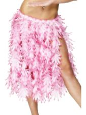 Pink Leaf Hawaiian Hula Costume Skirt Genuine Smiffys -