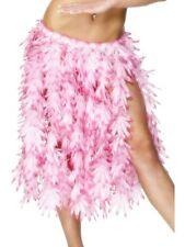 Pink Leaf Hawaiian Hula Skirt