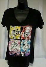 Monster High Black T-Shirt Size Large Girls