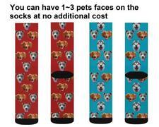 Personalized Custom Funny Face Socks Pet Dog Cat Lover Photos Socks XMAS Gift