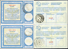 INDIA REPLY PAID COUPONS IRC 4 items 1970-86 Postal Stationery