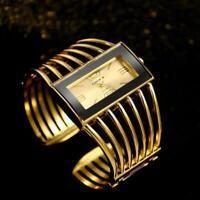 Women's Wrist Watch Round Cuff Bangle Ladies Gold Silver Stainless Steel Quartz