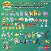 Pokemon Sword and Shield New HOME Transfer Pokemon