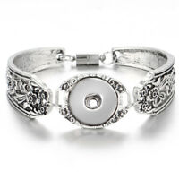 New Women Bangle Bracelet Drill Snap Fit For 18mm Noosa Chunk Charm Button S16