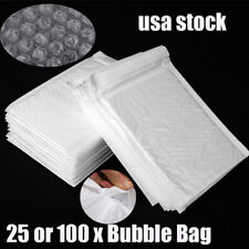 25 100pcs Poly Bubble Mailers Padded Envelopes Shipping Bag Self Seal Package Us