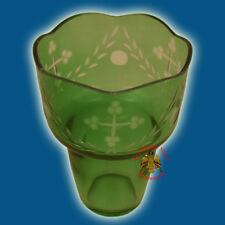 Romanian Orthodox Hand Carved Glass Cups Green Ewiglicht Ersatzglas Ikonenampel