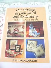 HERITAGE CROSS STITCH EMBROIDERY  GARFORTH BOOK PATTERNS PROJECT VINTAGE RETRO