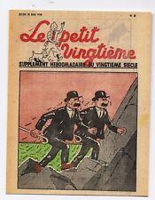 Carte Postale Tintin. Le Petit Vingtième n°21 du 26 MAI 1938 - Dupond et Dupont