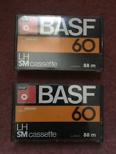 BASF 60 LH SM 70s/80s Cassette X2 fashioned Vintage recording tapes 60 mins Used