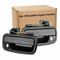 Outside Exterior Door Handle Black PAIR Left & Right For 1995-2004 Tacoma Toyota
