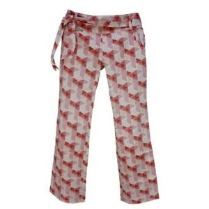 Oakley Fairway Pant Womens Size 14 AU 10 US Retro Cotton White Coral Print Pants