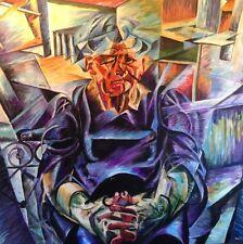 """Original David Aldus Umberto Boccioni """"volume horizontal"""" nouveau repro peinture"""
