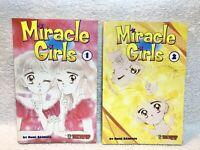 Miracle Girls Manga Book Lot English Volumes 1 & 2 Nami Akimoto Graphic Novel