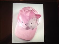 Women's Pussycat Baseball Hat with cat ears/Pink