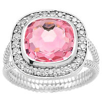 Simulated Pink Morganite 925 Sterling Silver Ring Jewelry Size 6-9 DGR1072_K