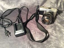 Olympus Pen E-P1 Digital Camera & Charger Bundle Rikemon Manual Lens Works Great