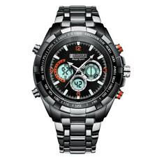 Barkers of Kensington Mens Chronograph Black Steel Sports Watch Discount SRP