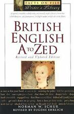 British English A to ZEd (The Facts on File Writer's Library)