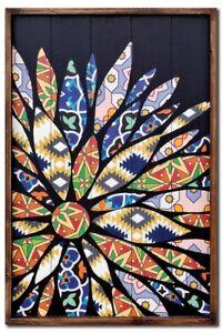 Flower Wood Panel Wall Art - 90cm x 60cm