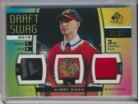 2019-20 SP Game Used Draft Swag DS-KD Kirby Dach /19 Chicago Blackhawks