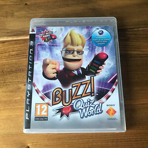 Buzz Quiz World PS3 PlayStation 3 Video Game **NO BUZZERS** Complete