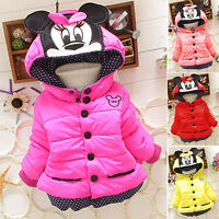 Infant Baby Kids Girl Down Hooded Padded Coat Winter Warm Jacket Outerwear Tops