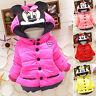 Toddler Girls Kids Minnie Mouse Hoody Hoodie Jacket Coat Winter Warm Outerwear