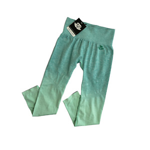 Valkyrie Seamless Legging Womens Size Small Mint Ombre High Waist Stretch