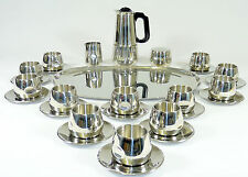 AMC ART DESIGN - Service MOKKASERVICE Espresso Set f. 12 Pers. - Edelstahl
