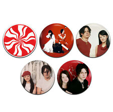5x The White Stripes Indie Rock Duo 25mm / 1 Inch D Pin Button Badges
