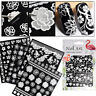 3D White Flower Lace Nail Art Water Transfer Decals Stickers Tips Manicure Decor