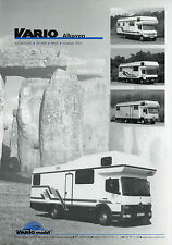 Preisliste Vario Mobil Alkoven 2003 Preise Reisemobil Wohnmobil Motorhome prices