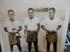 More details for republic of nauru repubrikin naoero 1928 portrait trio of policemen clear faces